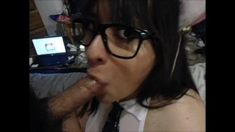 Oral Creampie - Kitty/SchoolGirl Blowjob