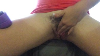 dripping pussy juice, with my butt plug