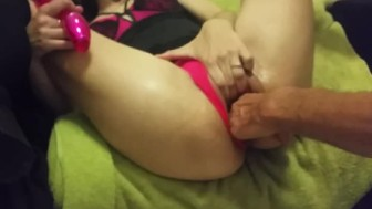 Love getting my pussy stretched out, ready to be fucked!