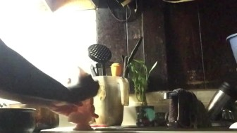 I Am Playing With My New Toy-BEHIND THE SCENES Plus A Washing Up Scene