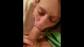 Milf deepthroating my cock
