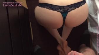 College Girlfriend Receive Cum on her Bum... Good Masturbation... LSL #04