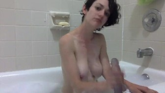 JOI & Dildo Fuck Bubble Bath