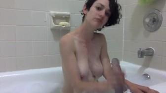 JOI & Dildo Fuck Bubble Bath