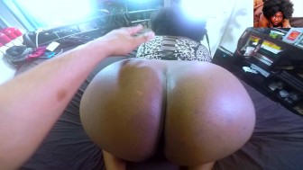 Ghetto Onion-Booty Ebony Fucked Hard Wearing Sexy Lingerie -BackShots- POV