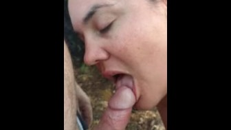 Becky Tailor getting orally creampied at the beach