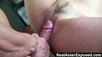 RealAsianExposed - Busty Asian secretary gets to finally bang her boss.