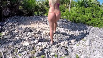 Huge CreamPie after POV Sex, Bikini Kayaking to outdoor public beach!