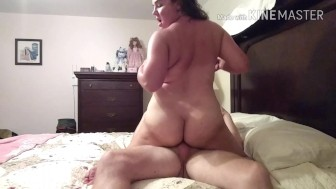 Vixen Milf sucking, missionary fuck, cowgirl, reverse cowgirl-cum in pussy