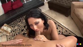 Sexy Busty Big Tits Euro MILF Cougar ZOEY HOLLOWAY Sucks 2 Cocks Blowjob!