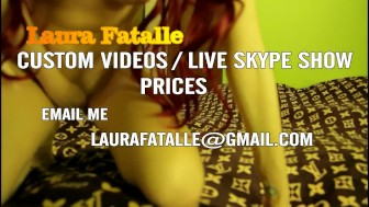 Red Head MILF Fingering Herself While Watching You In The Eyes-LauraFatalle