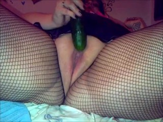 my girlfriend playing with a cucumber and squirting final