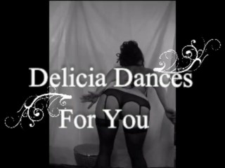 Delicia D'Anjelo's Sexy Bedroom Strip Tease