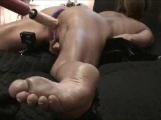 WIFE CUMS HARD! Spread Eagle – Pound Machine – Ass fuck Beads *as requested