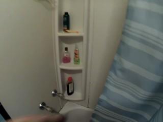 Shower Hand Job, with Closeup Ass, Pussy, Shaving