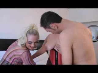 Granny and Sookie get arse fucked by Young Stud 3sum GILF MILF English