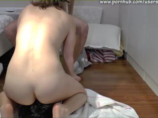 Foxtail blowjob and anal creampie