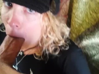Lovely Blowjob & Cumshot with Pierced Cock