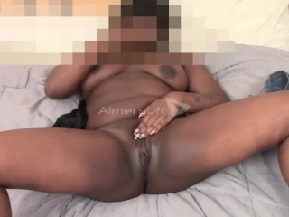 BlackBarbie Foundling Her Big Pussy, Ass and Tits Part II