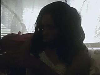 black girl smoking and cumming