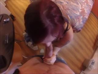 Slut meets stranger in hotel sucks his huge cock for $200