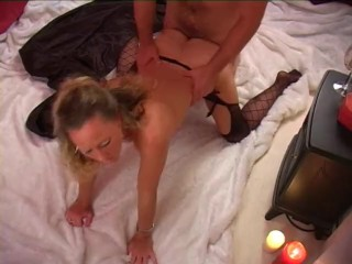 NatalieK bit, fucked and sucking the vampire cum on Halloween