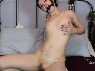 Kinky Brookelynne Briar Gagged Including In Bondage Smashes Her Hole With A Fuck toy