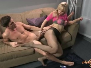 Pantyhose handjob by Ashley Fires