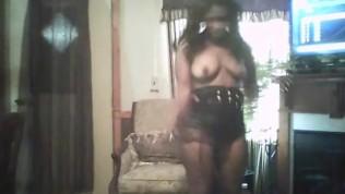 black girl strip tease