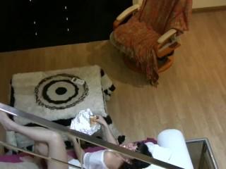 Cute teen girlfriend enjoys sucking cock. Homemade Video