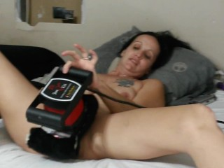 Gia Rose masturbates and get fucked doggy with cum on face