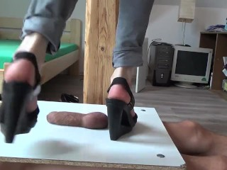 Very Cruel Wedge Heels Boots Trample Crush Cock And Balls