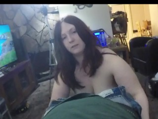 Thick amateur Redhead Sucks and swallows in P.O.V