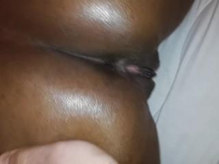 Ebony Latina Fingered and Fucked **Creampie**