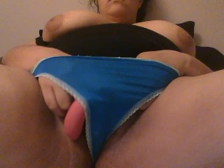 Playing with my clit in my wet panties for you guys/girls