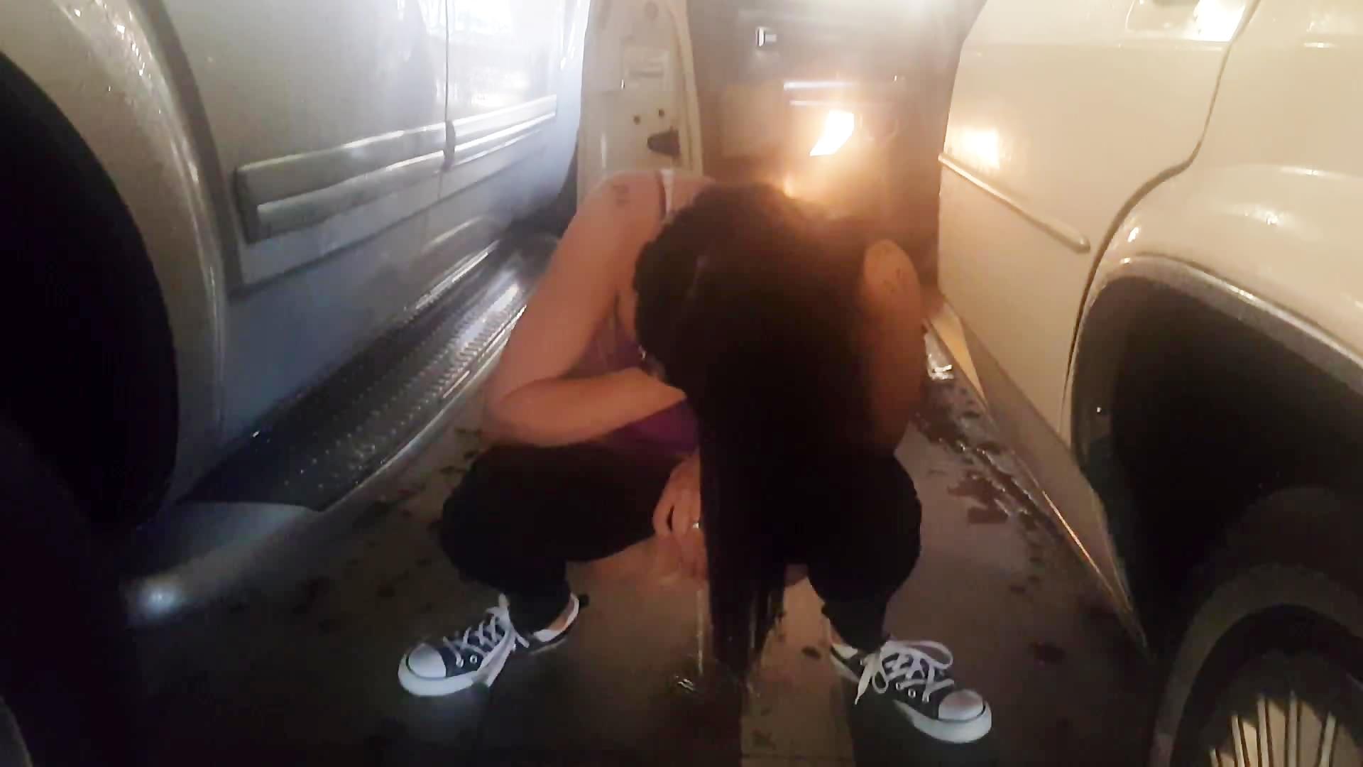 Pissing in garage