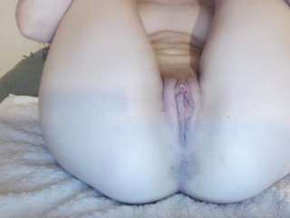 Close up creamy tight pussy, hidden from parents waiting for your dick