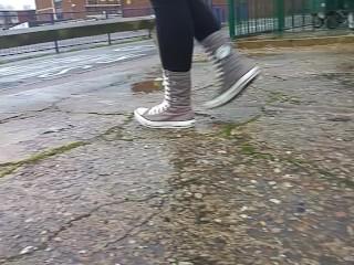 Shoes/mudy/high converse walking shoejob