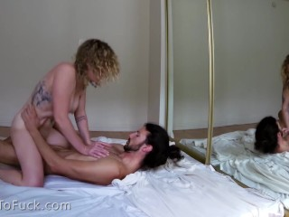 Hot Couple Bangs in Mirror – Mega big Orgasm