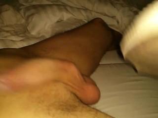 Footjob by Converse, socks and feet