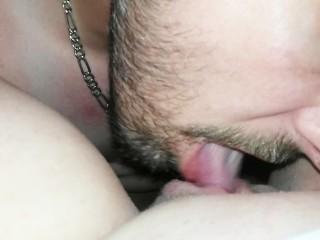 Close Up POV Horny Milf Pussy Licking and Tongue Fucking