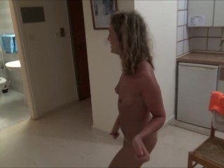 Naked Sexy Dance on the Balcony