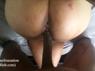Pregnant Asian Lover Receiving That huge black cock Pussy filling