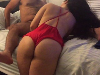 First Home Video. Deepthroat, Doggystyle, and eating her pussy