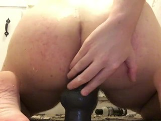Chubby Puppy Boy Rides His Toy While Moaning Like A Slut And Cums Hard