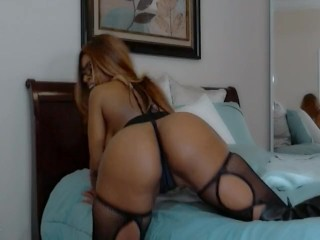 Busty Big Booty Nyla Storm Fucks Her Toys Wild on Webcam For Her Lovers Cum