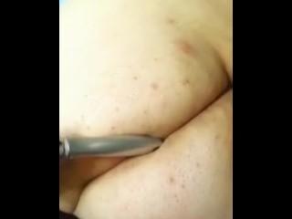 With/bbw/bbw a hairbrush fucking ass