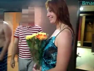 Gang-Bang russian sexwife Marta with 5 boys DP