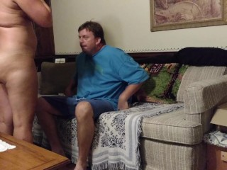 Horny big-assed milf fucking on Mom s couch while housesitting, pt. 2