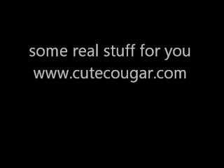 Mature/power cums cougar with tool